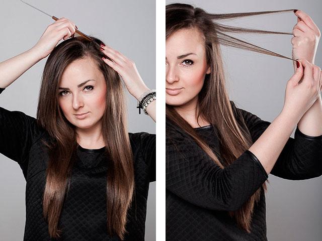 Пошаговое фото для причесок на длинные волосы