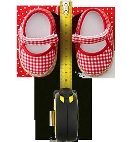 Калькулятор размеров детской обуви (0-1 год)