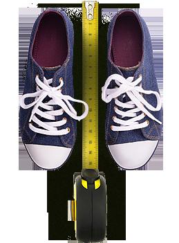 Калькулятор размеров подростковой обуви (от 7 до 10 лет)