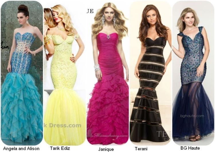 Выпусные длинные платья 2014 в стиле