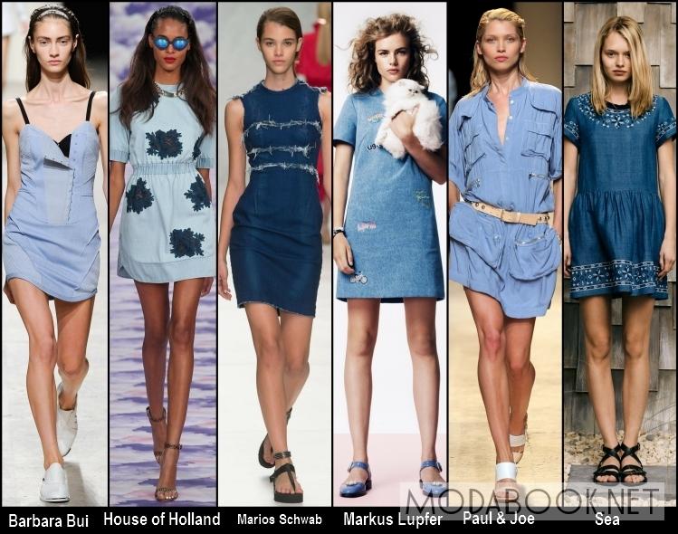 Платья на лето 2014 из денима