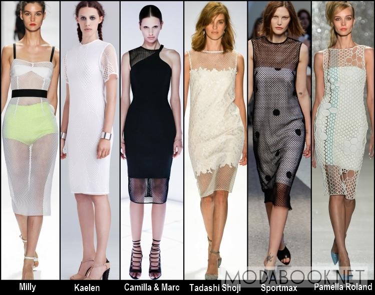 Платья из сетчатой ткани - лето 2014