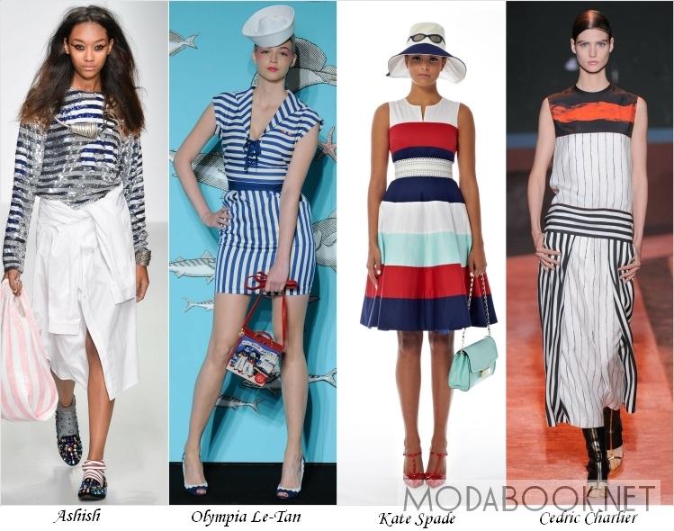 Морской стиль в летней моде 2014