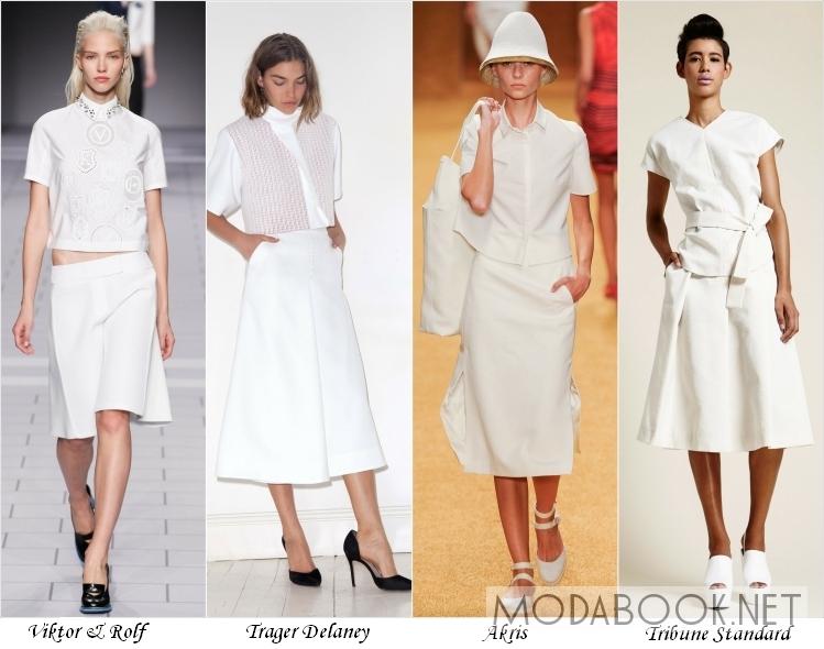 Белый цвет в летней одежде 2014 года