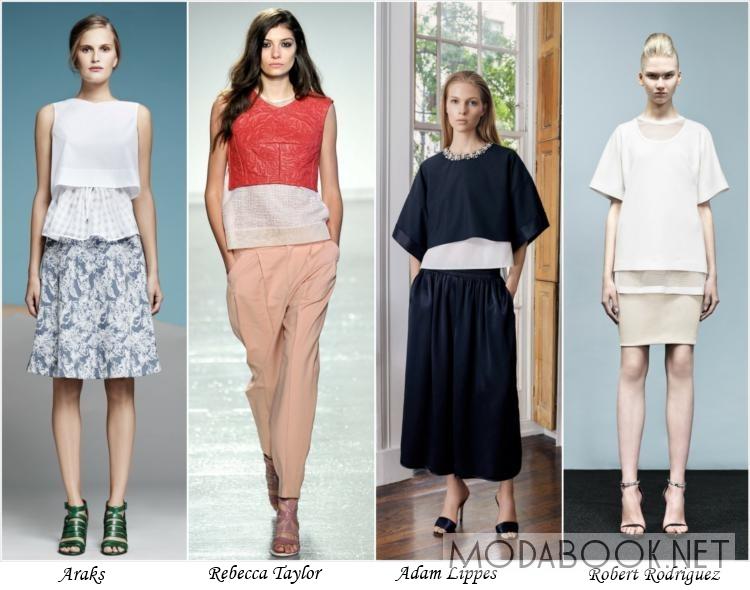 Мода на многослойные наряды летом 2014