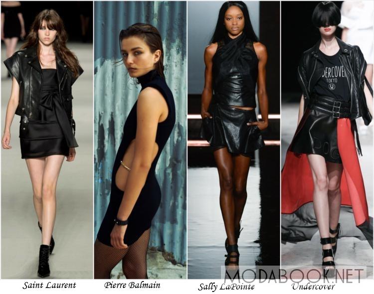 Гламурный панк в женской одеждже лета 2014 года