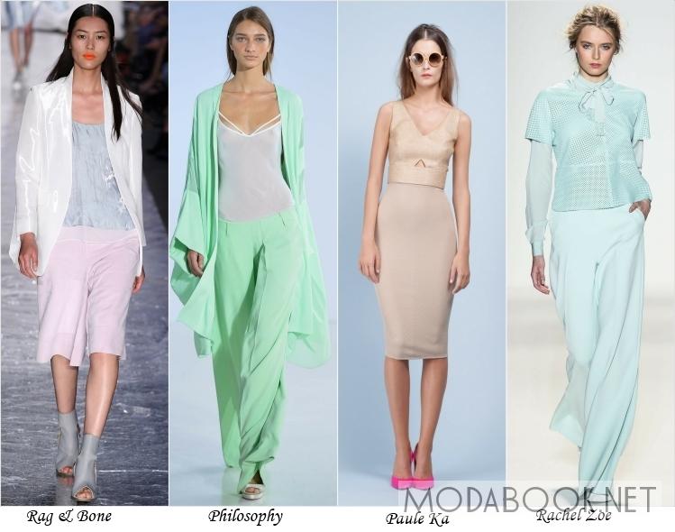 Одежда пастельного оттенка в моде на лето 2014
