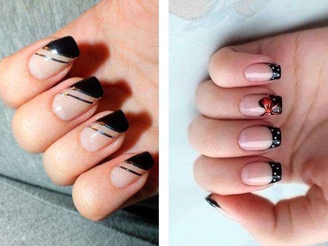 нарощенные ногти фото френч самые красивые