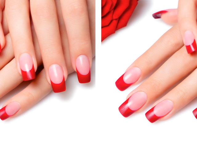 бордовый френч на ногтях фото 2016 новинки