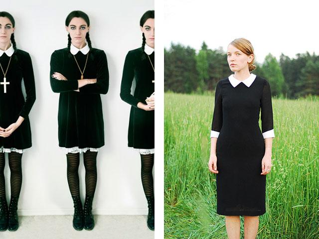 Черное Платье С Белым Воротником Доставка