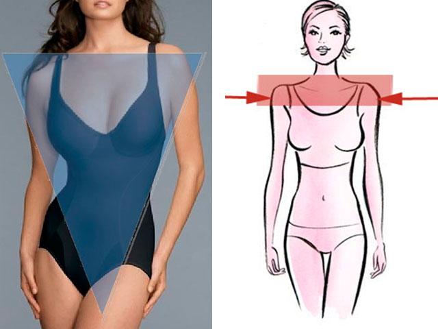 Модели платьев при широких плечах узких бедрах