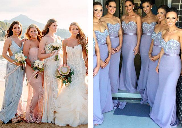 Платья подружки невесты из атласа
