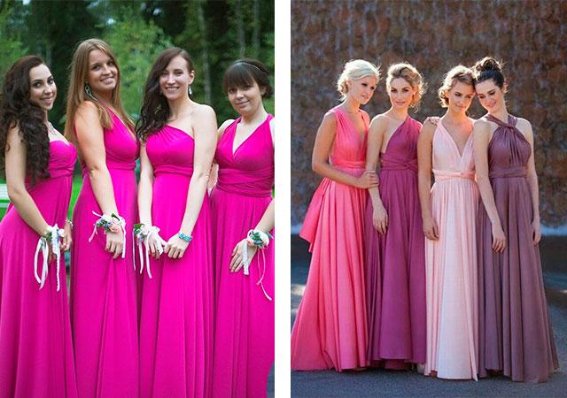 Платья в пол для подружки невесты