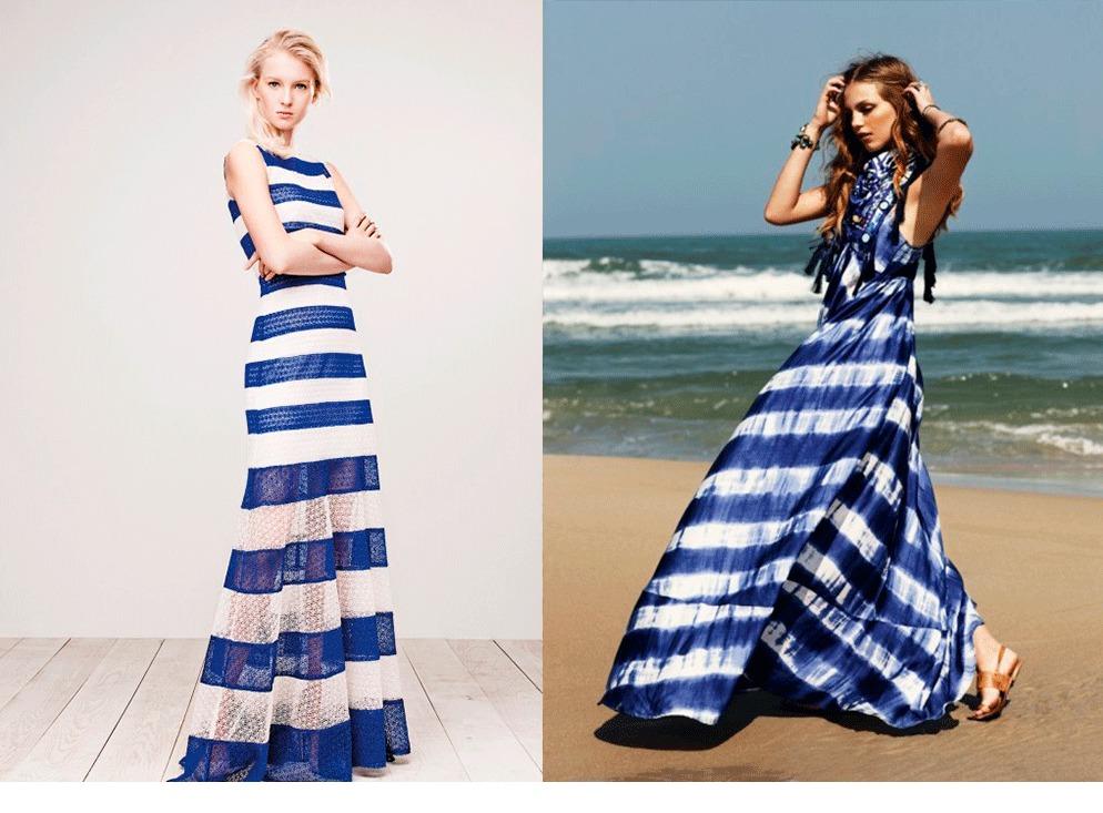 Платье в диагональную полоску 125