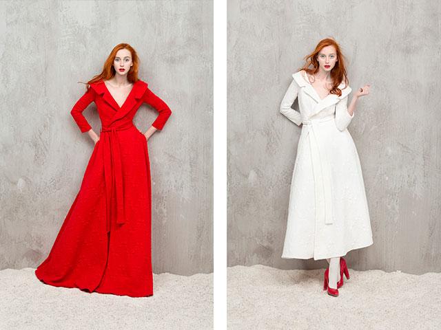 Платья на запах красные фото