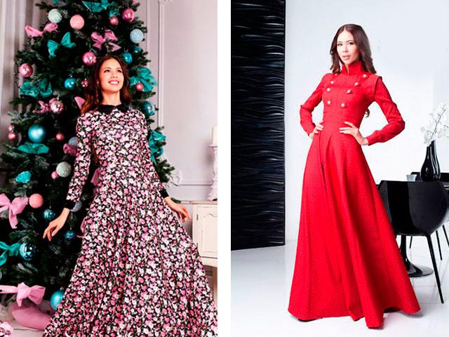 Модные длинные платья с рукавами красивые
