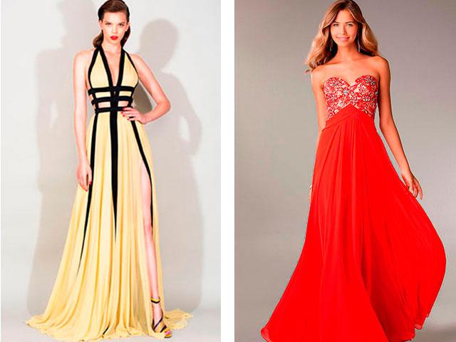 Модные яркие платья в пол 2016