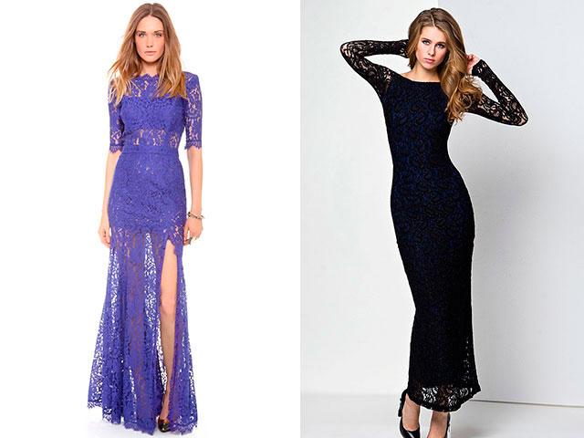 Модные платья из кружева в пол 2016