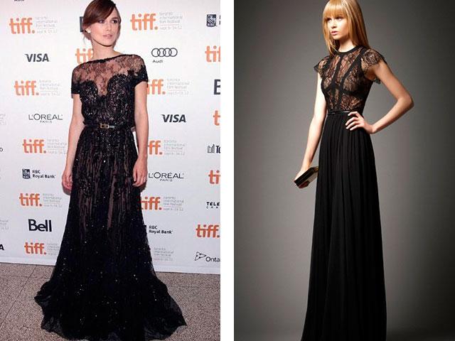 Длинное черное платье в пол 2016