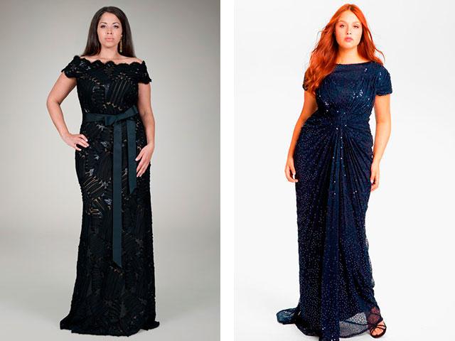 Модные вечерние платья в пол для полных 2016
