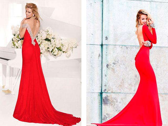 Модные платья с открытой спиной 2016