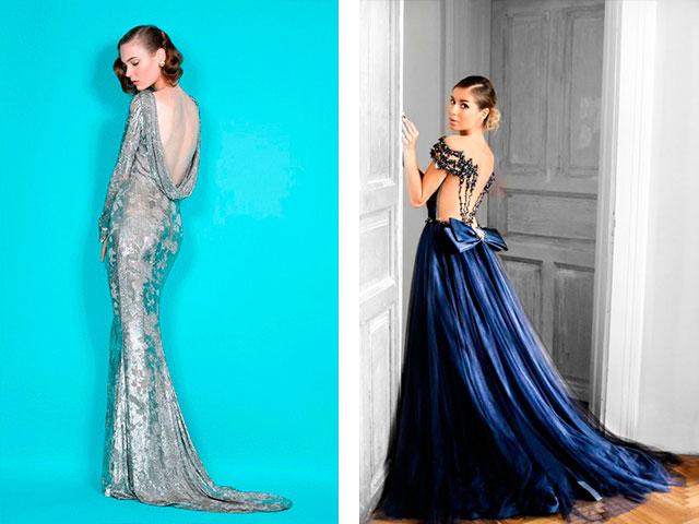 Модные платья в пол с открытой спиной 2016