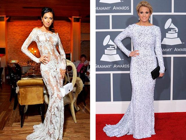 Ажурные модные длинные платья с рукавами