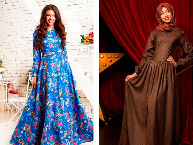 Модные длинные платья с рукавами мусульманские