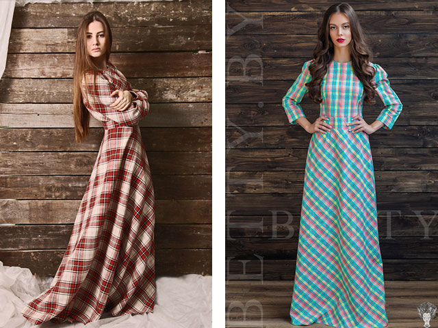 Длинные платье повседневная с фото