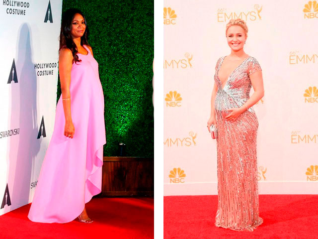 Модные длинные платья для беременных 2016