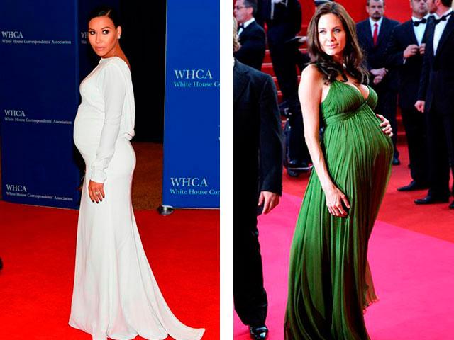 Модные платья в пол для беременных 2016