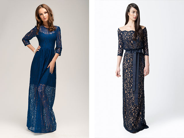 Длинные платья в пол рукав три четверти