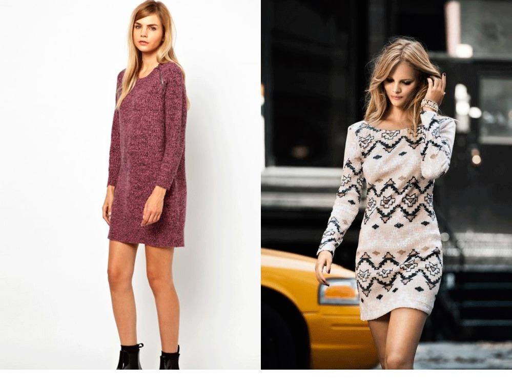 Вязаные модные платья 2017-2018