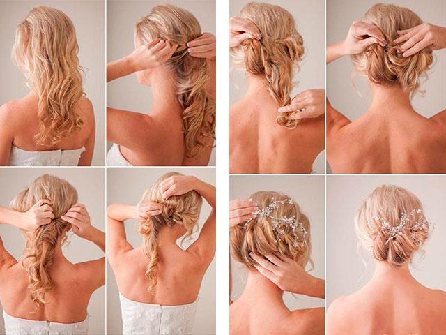 Прически на средние волосы своими руками фото пошагово