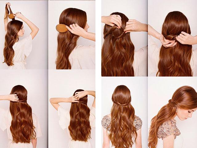 Легкие прически нас волосы своими руками в домашних условиях